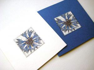 In Weiß oder Blau.